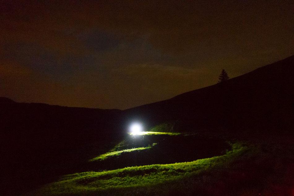 Kurz vor der Schwägalp - stockfinstere Nacht