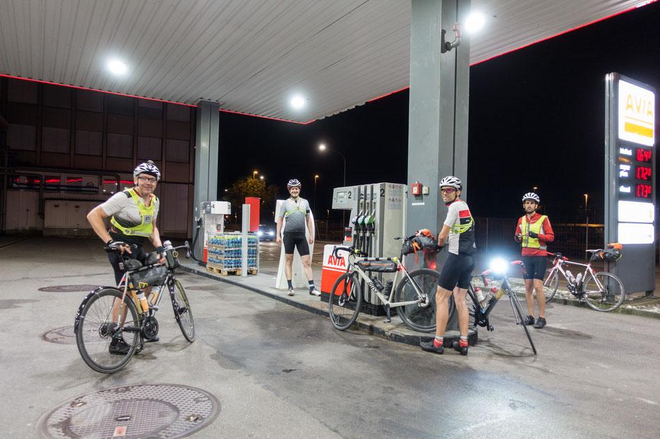 Zwischenstopp an Tankstelle in St. Gallen
