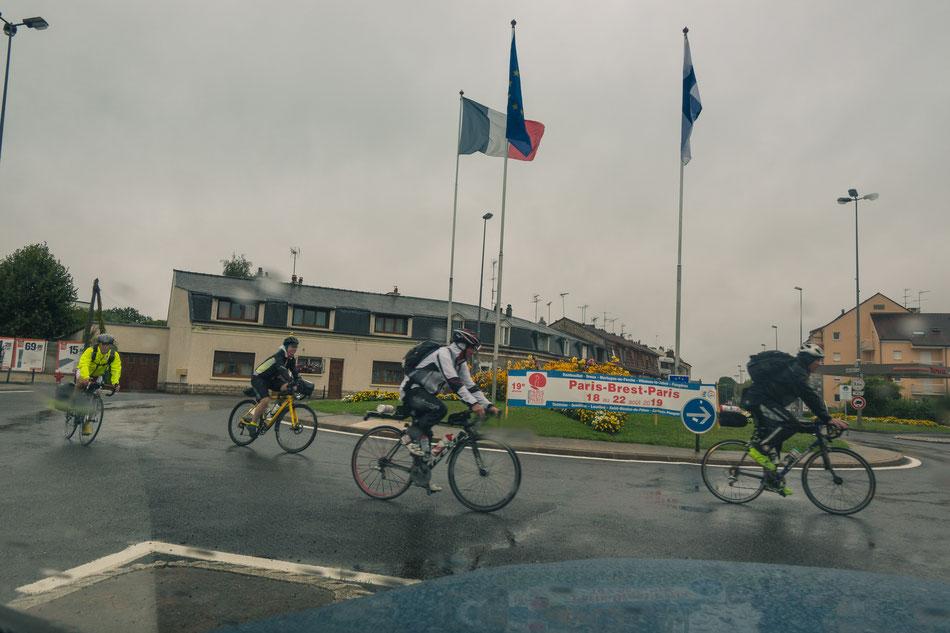 Erster, regnerischer Eindruck von Rambouillet