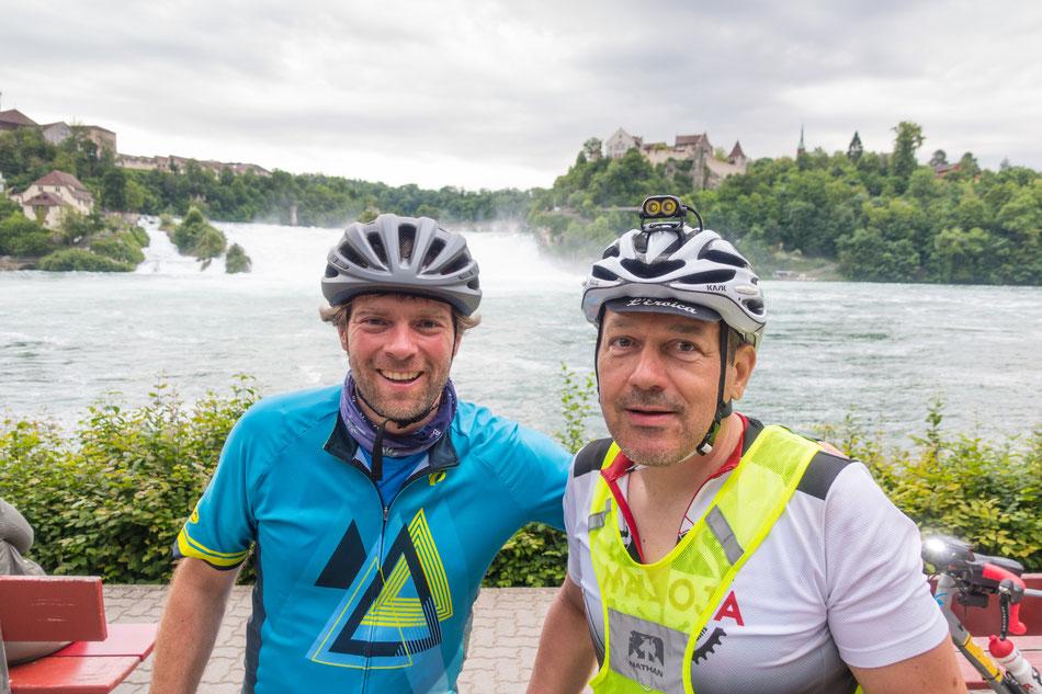 Letztes Checkpoint Selfie am Rheinfall