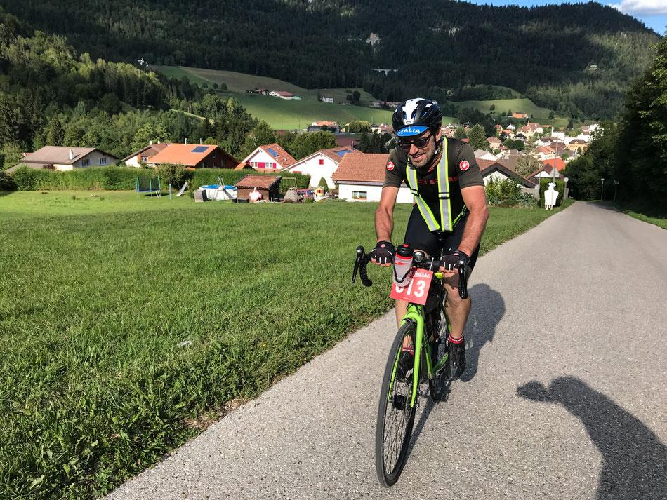 Andreas beim Klettern nach der Kontrolle