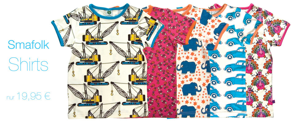 Smafolk Shirts in tollen Farben!