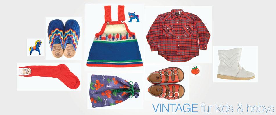 Vintage Mode und Accessoires für Babys und Kids