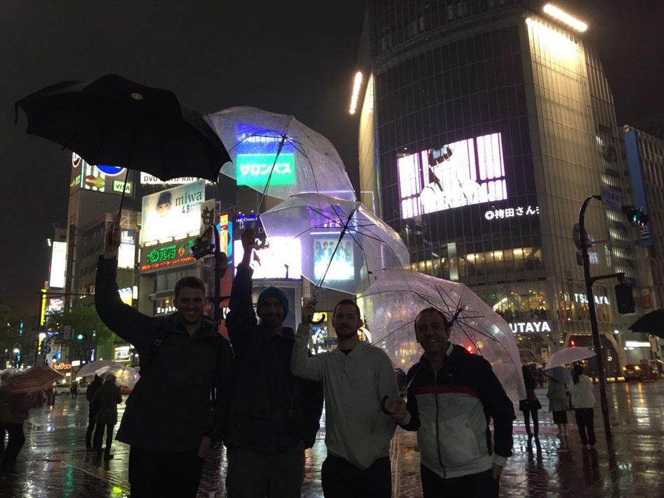 Shibuya. The Aussie line up.