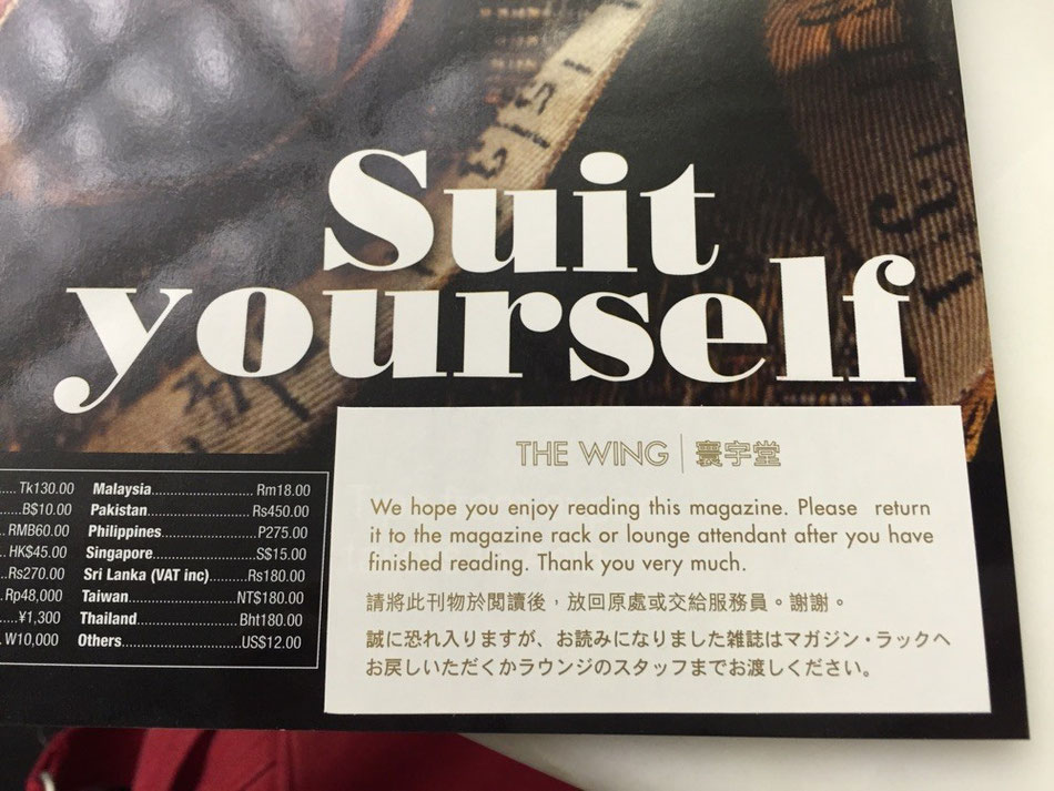 "See what I mean re magazines. Exactly ""suit yourself""."