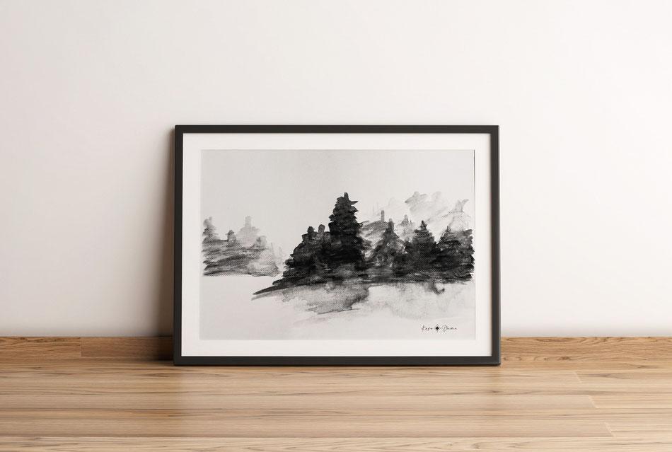 Aquarell – Wald