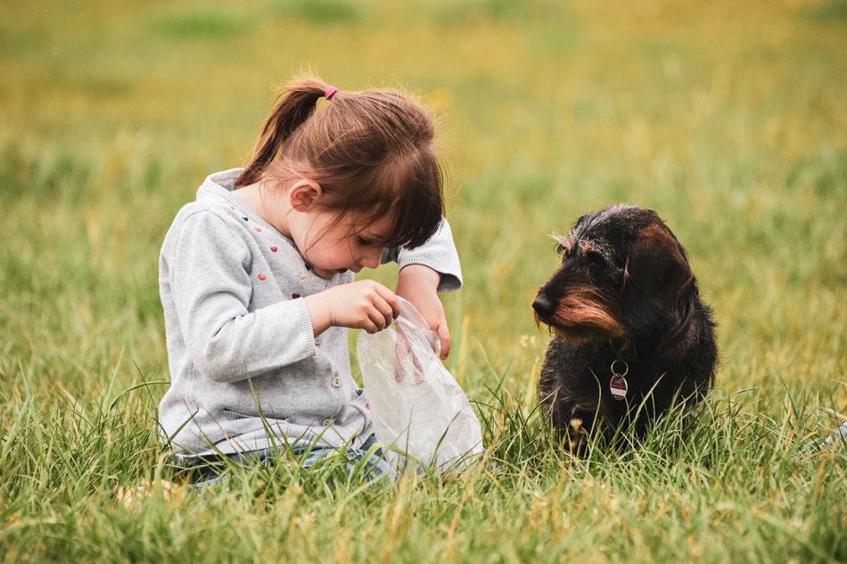 Fotografie – Maedchen mit Hund