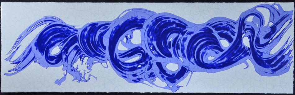 Drift in Blau  (210X65cm)  2015