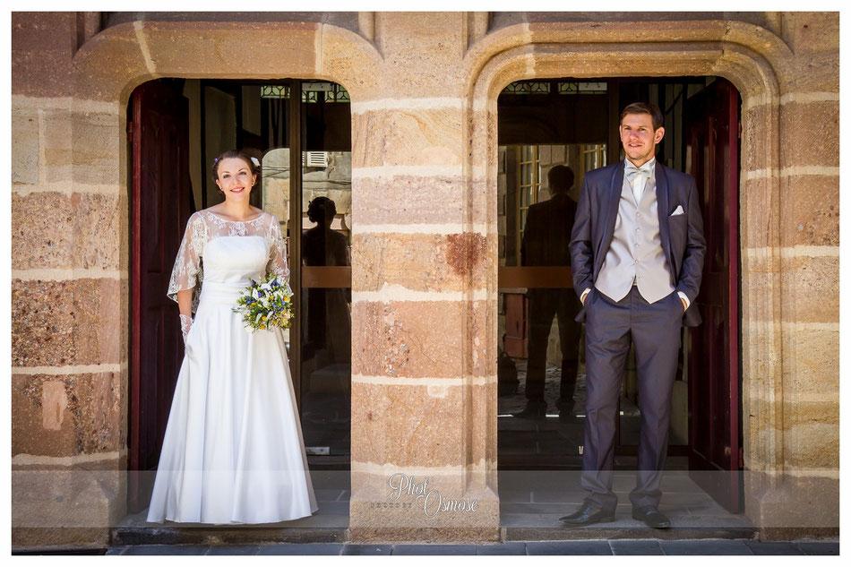 Couple de mariés dans le Vieux Moulins