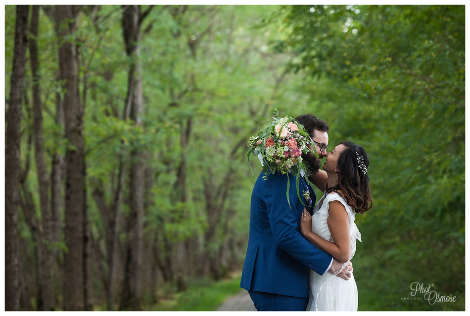 Couple de mariés à Coulandon