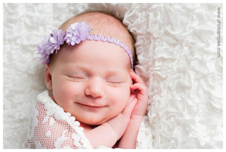 Le sourire d'un nourrisson chez Phot'Osmose à Moulins