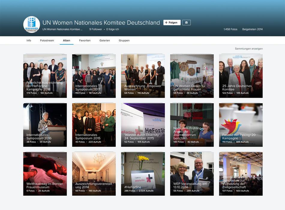 Fotoalben zu UN Women Nat. Komitee Deutschland: Auszeichnungen, Symposien in Bonn und Berlin