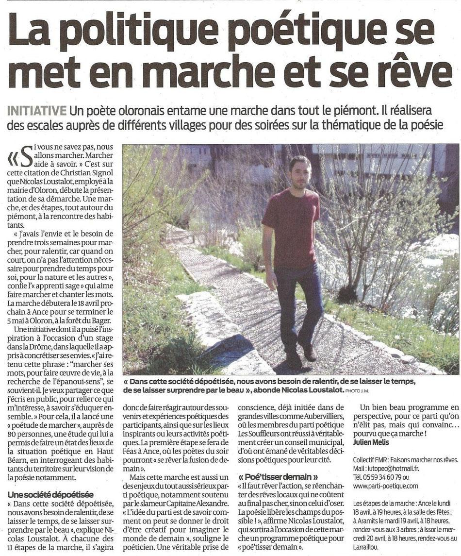 Article de Julien Mélis - Sud Ouest 6 Avril 2016