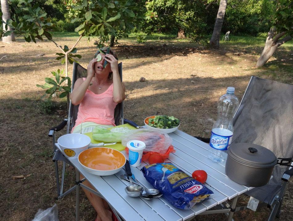 Salatgurke hilft auch gegen Hitze!
