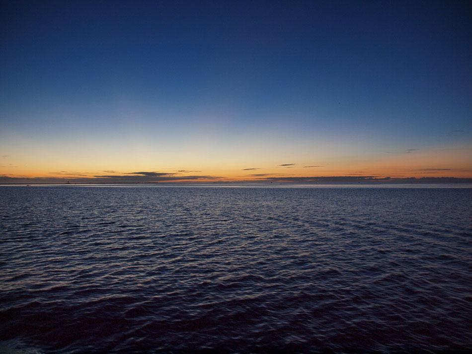 …Ausblick in den Sonnenuntergang! :-)