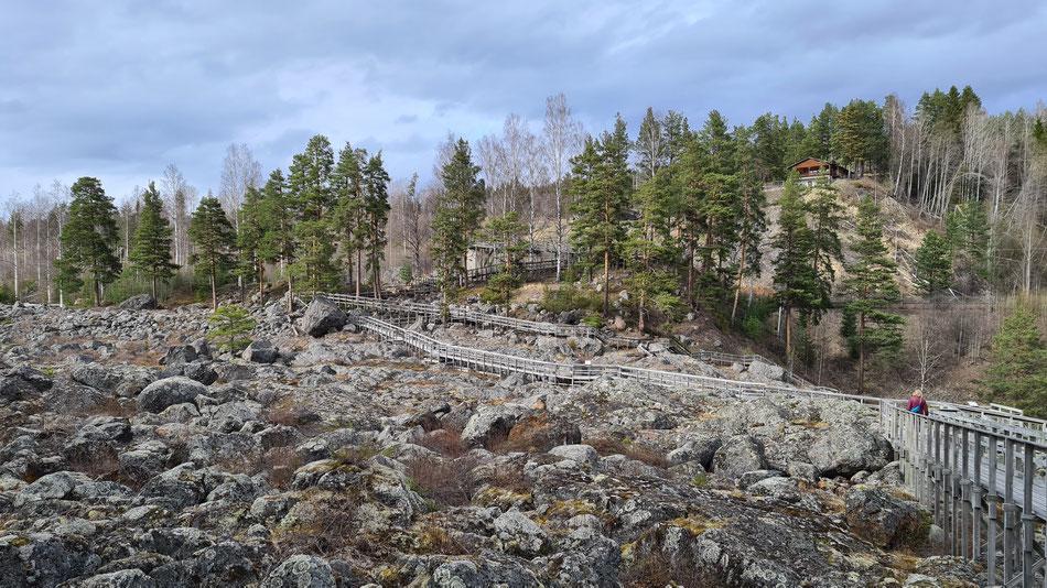 Döda Fallet (Toter Wasserfall) in der Region Jämtland