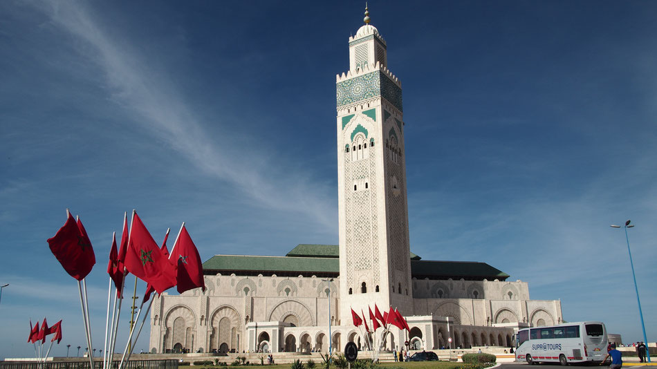 A Hassan II Mecset, Casablancában.