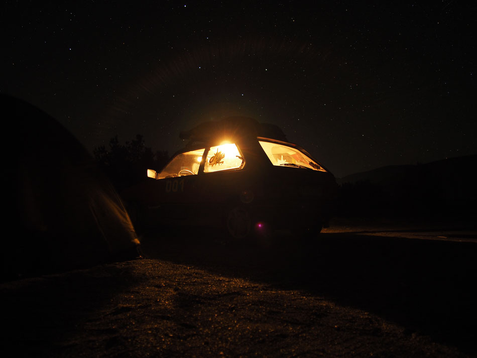 Ádámmal a Sevani tó partján éjszakáztunk az Örmény hegyekben.