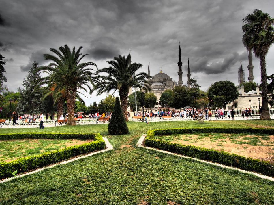 Park a Kék mecset és a Hagia Sofia közt.