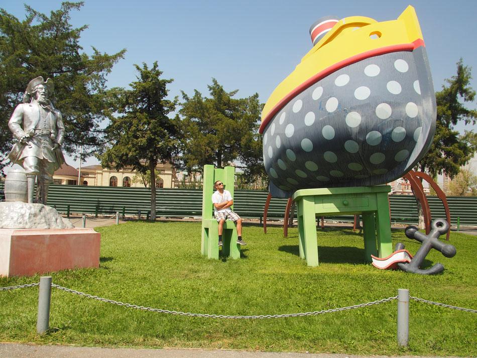 Különféle érdekes installációk Jerevánban.