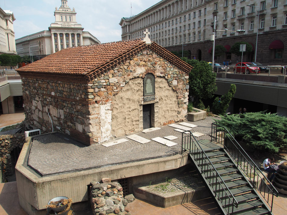 Római kori maradványok a Serdika Metróállomáson.
