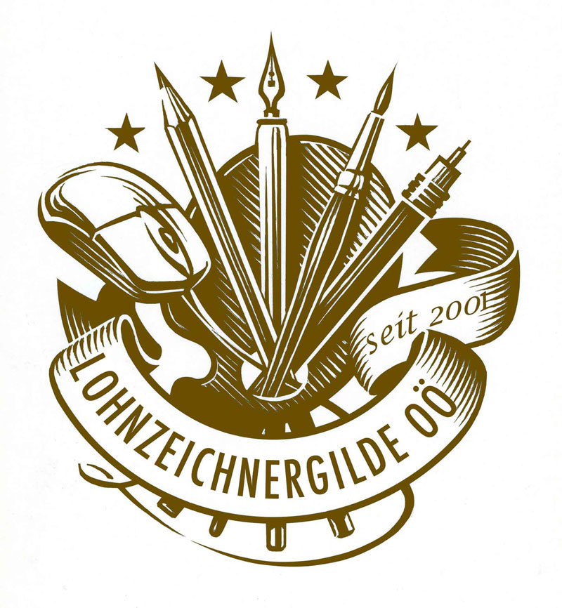 Lohnzeichnergilde OÖ - Neujahrs-Logo 2017