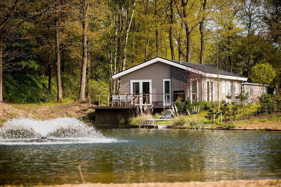 Te koop vakantiewoning op de Veluwe inclusief kavel, tuinaanleg en inventaris