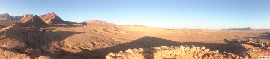 auf den Hügeln hinter Anarak, mein erster Stopp in der Wüste