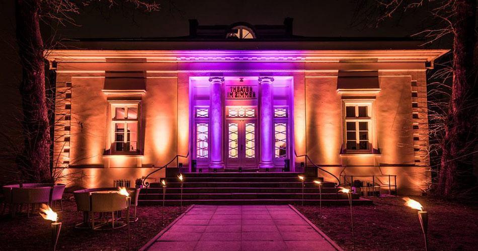 Impression des Theater im Zimmer Hamburg bei Nacht