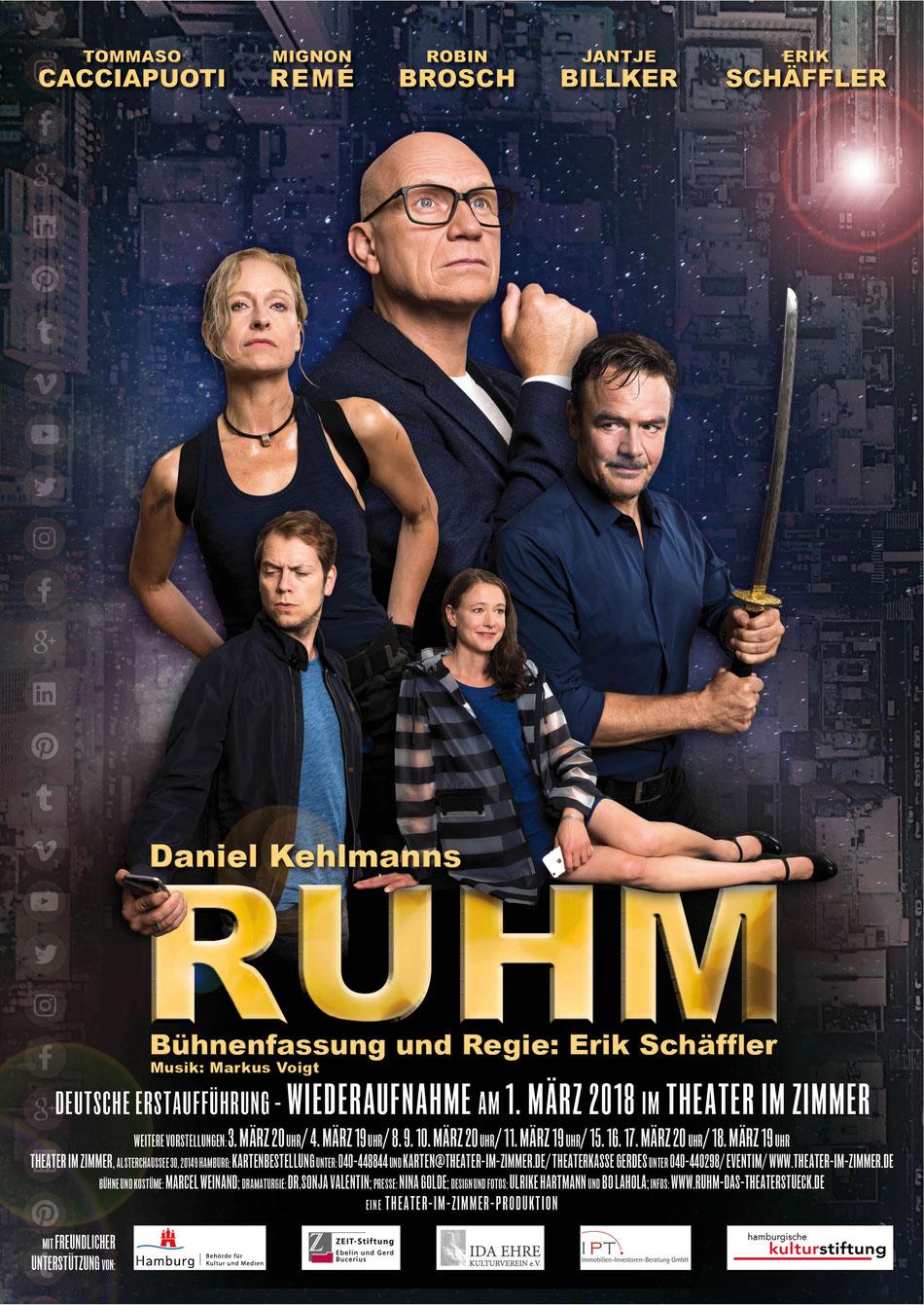 """Daniel Kehlmann """"RUHM"""" im Theater im Zimmer Hamburg"""