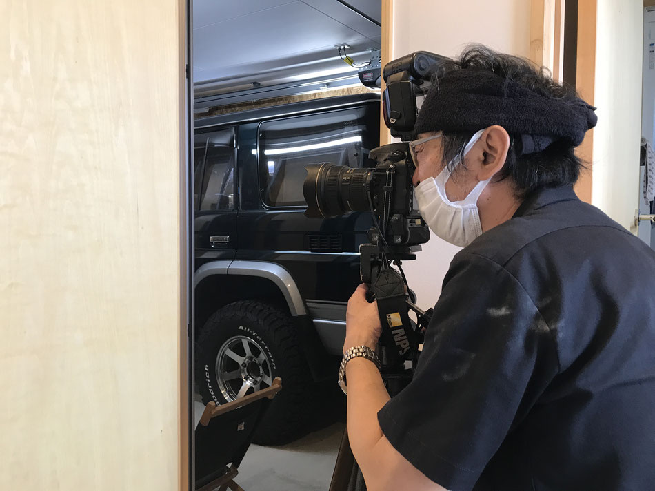 プロカメラマンによる撮影の様子