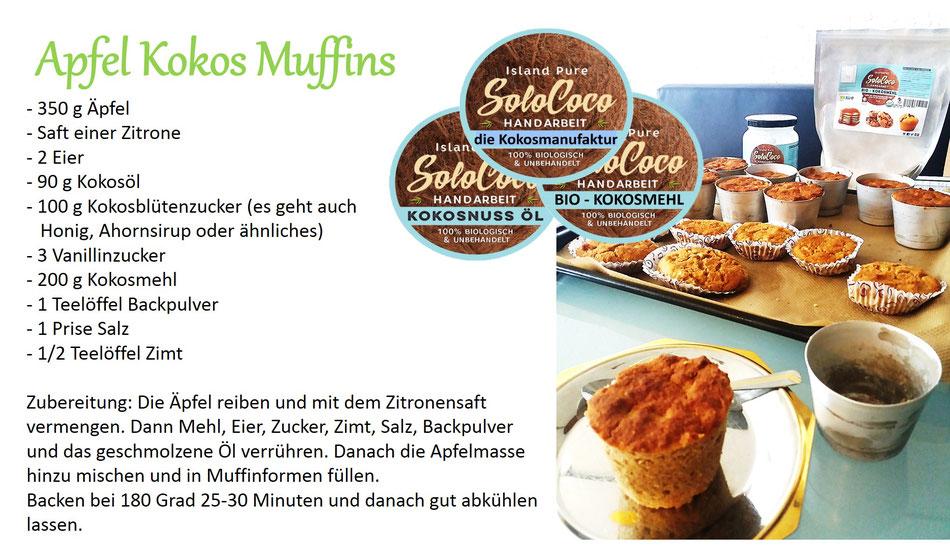 mit Kokosöl und Kokosmehl gebackene Muffins einfach ein Genuss