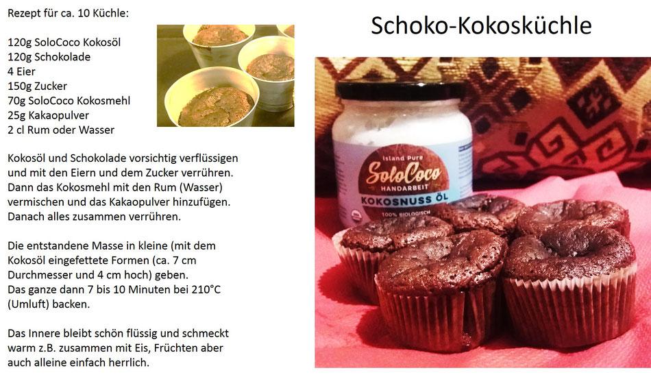 SoloCoco gibt diesen leckeren Schokoküchle in Form von Mehl und Öl einen hervorragenden Geschmack.
