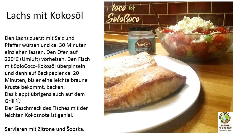 Rezept für Lachs mit Solococo Kokosöl backen