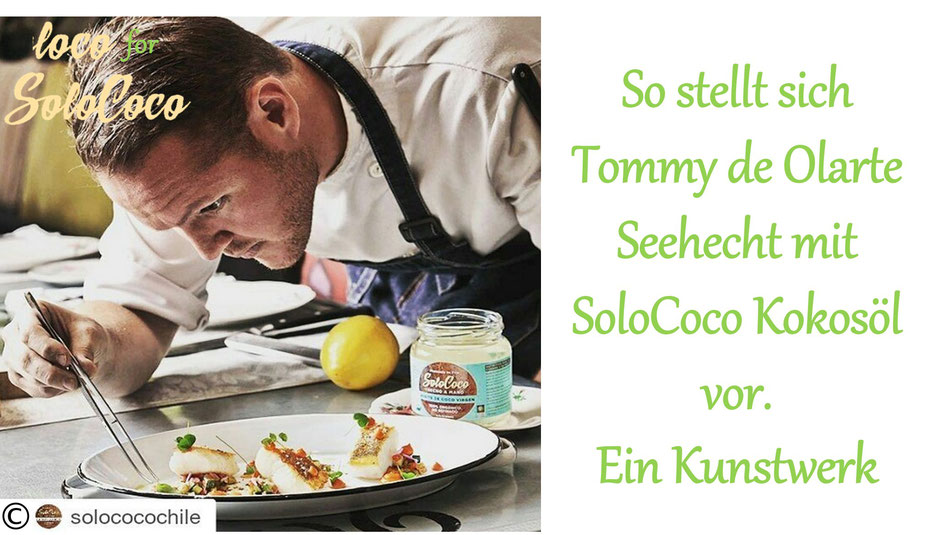 Rezept für Seehecht mit SoloCoco Kokosöl von Starkoch Tommy de Olarte