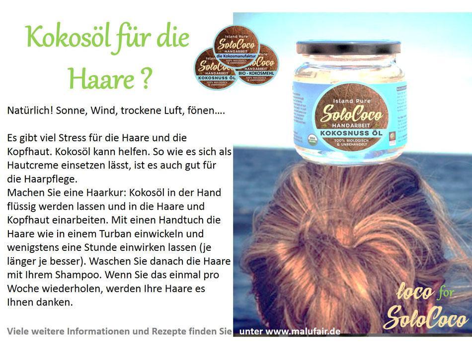 Anleitung für eine Haarkur mit SoloCoco Kokosöl