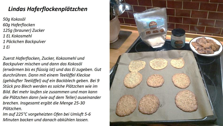 Rezept Haferflocken Plätzchen mit SoloCoco Kokosöl und Kokosmehl backen