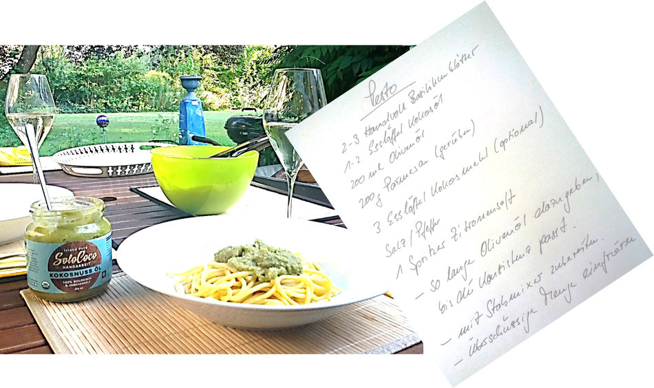 Rezept für Pesto mit SoloCoco Kokosöl