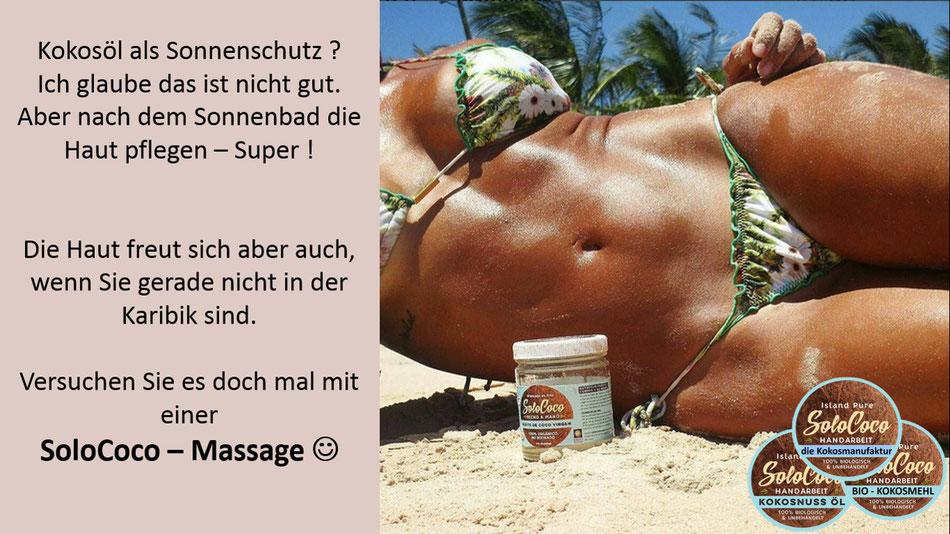 Hautpflege und Massagen sind super mit SoloCoco Kokosöl