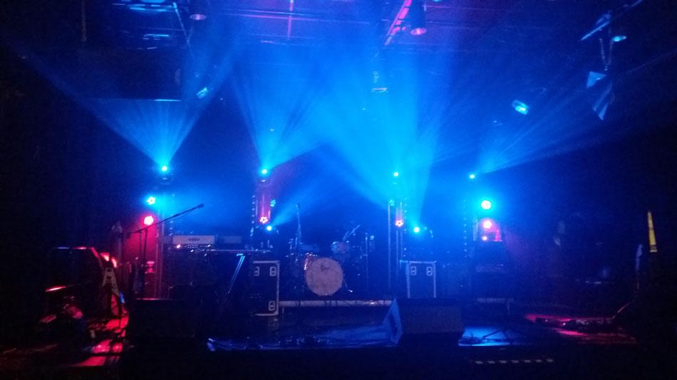 La belle scène de L'Hélice, à Toulon, juste avant notre concert !