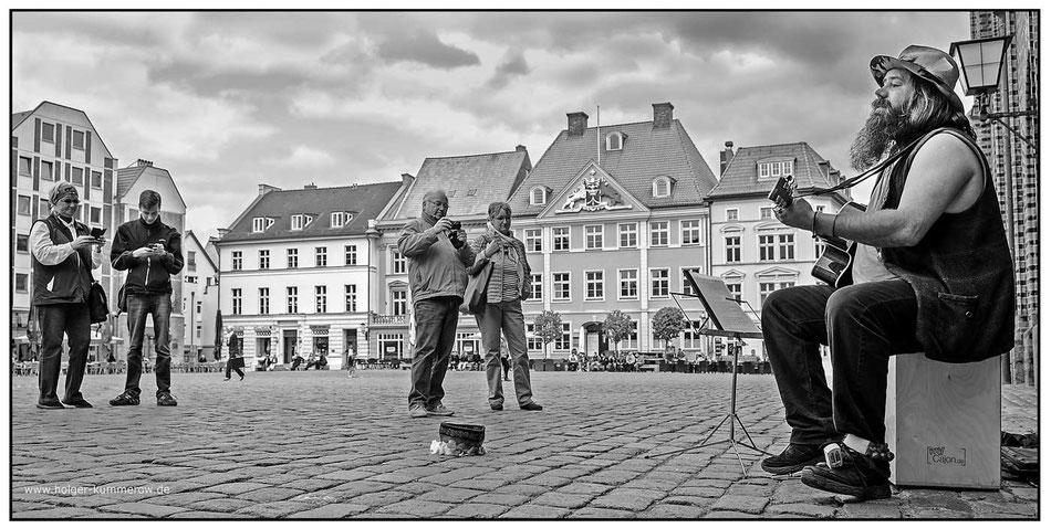 Straßenmusik, Rockmusik, Livemusik, Waldgänger, Stralsund, Vorpommern Greifswald, Jens Liesendahl,