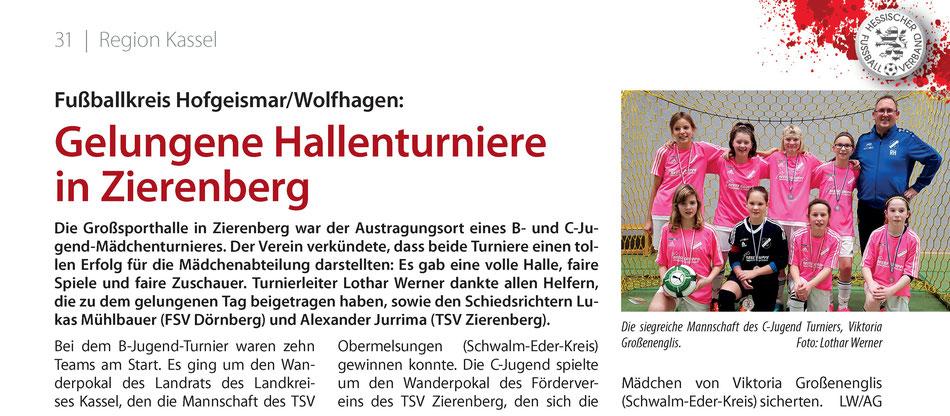 Aus dem Hessen Fussball 2/2018. Quelle: HFV
