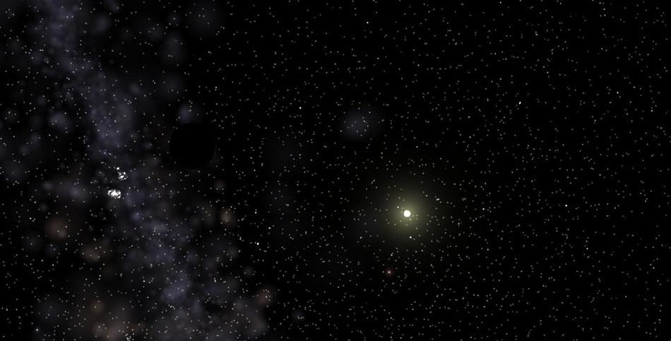 Der neue Himmelskörper - Antagonien - den Ferdinant und ich entdeckt haben.