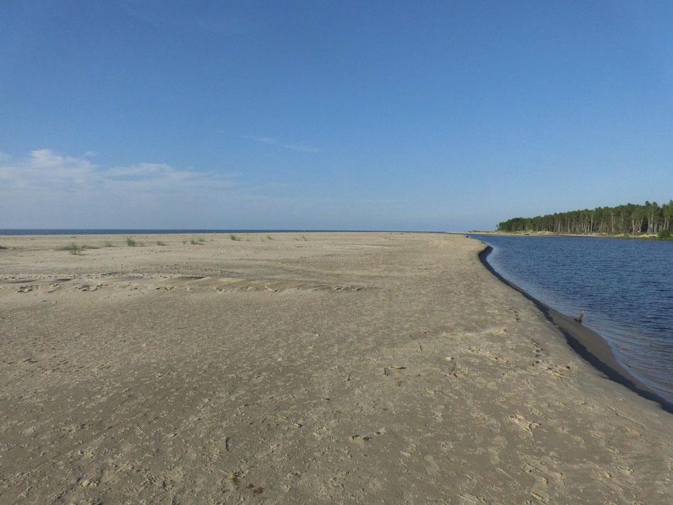 Mündung der Irbe in die Ostsee