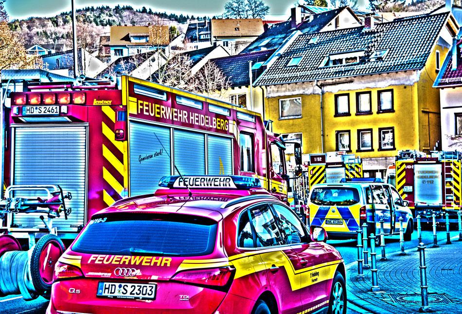 Einsatz Berufsfeuerwehr Heidelberg am 15.02.2019