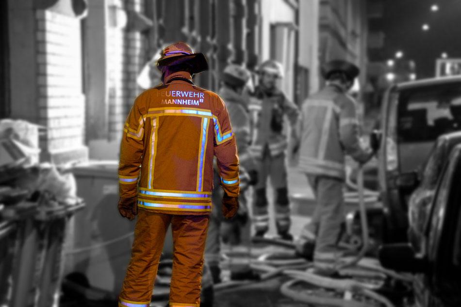 Brandeinsatz am 03.01.2019 in Mannheim