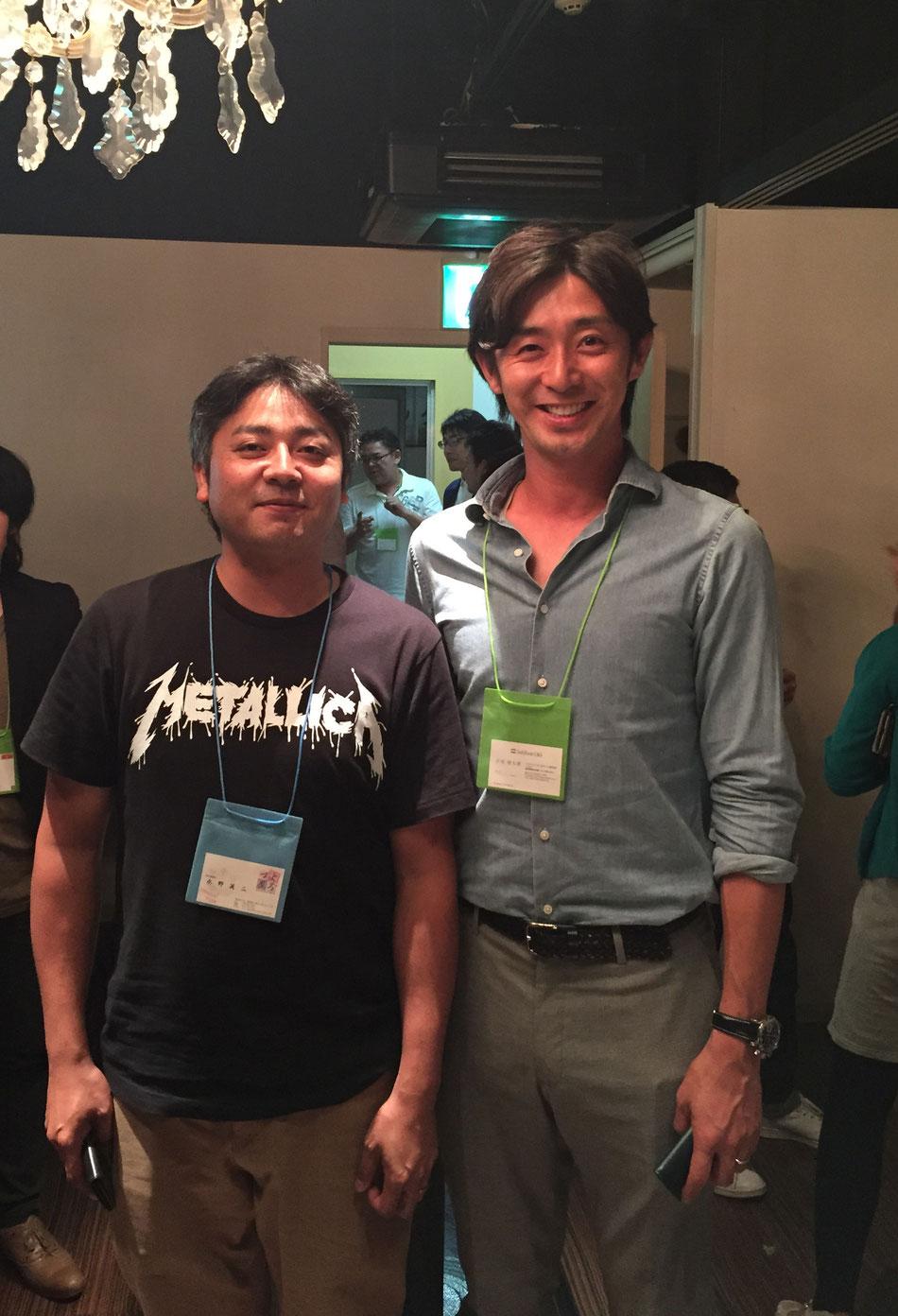 元ソフトバックホークス投手、現ソフトバンクC&Sの江尻慎太郎さんと