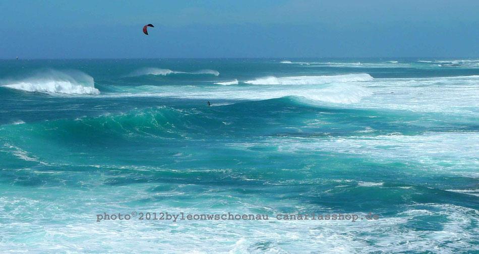 Fuerteventura_ Windsurfer bei El Cotillo