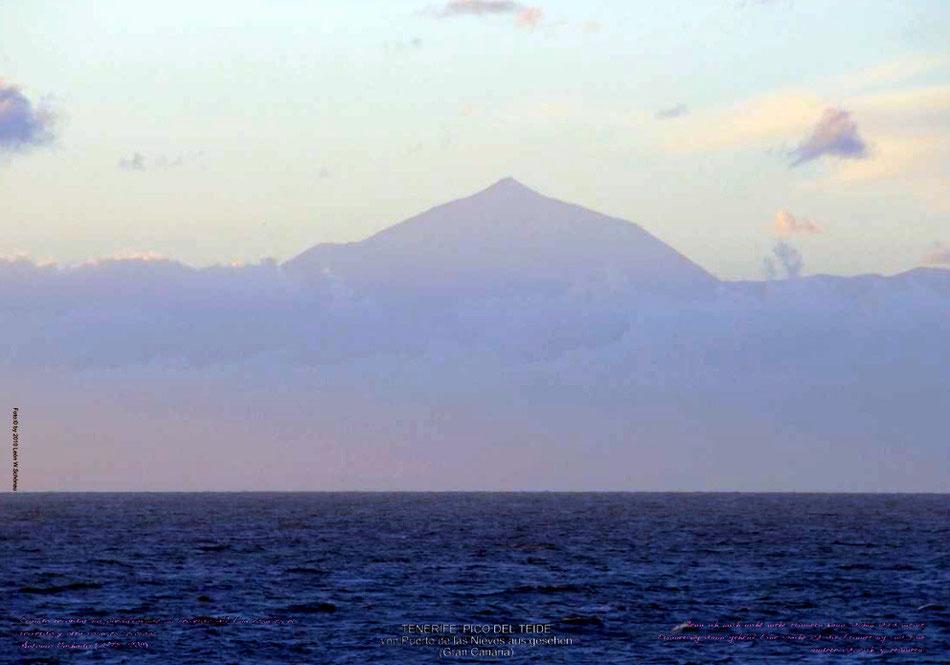 "EDITIONCANARIAS-Fotoposter  Format A3, ""El Teide"", mit Text in Deutsch und Español"