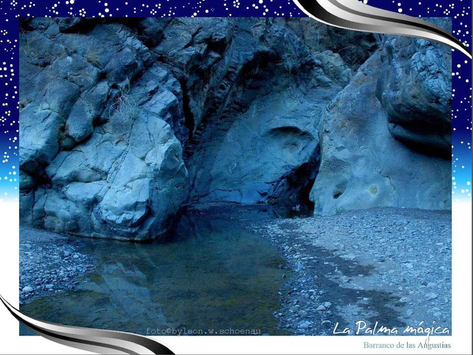"""EDITIONCANARIAS-Fotoposter Format A 3: """"Barranco de las Angustias"""", La Palma/Canarias"""